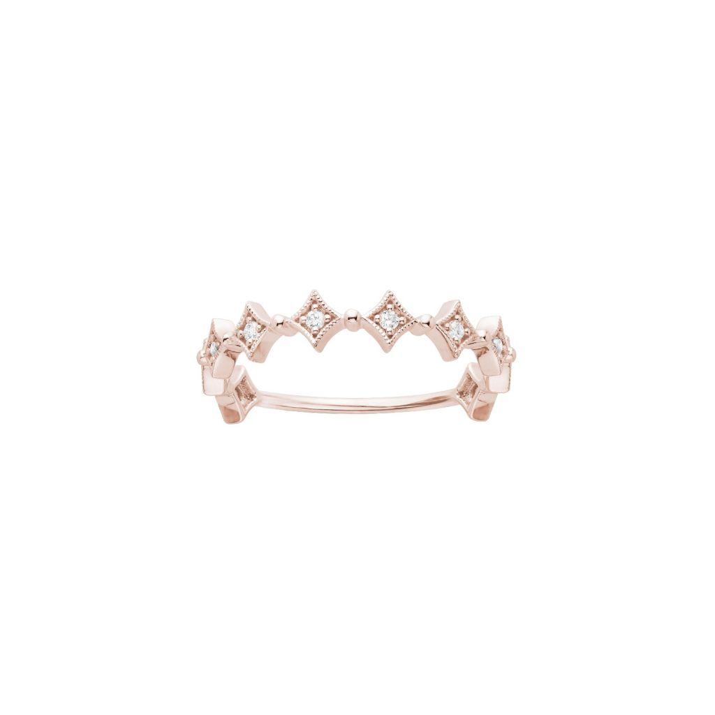 Bague Stone Paris Divine en or rose et diamants