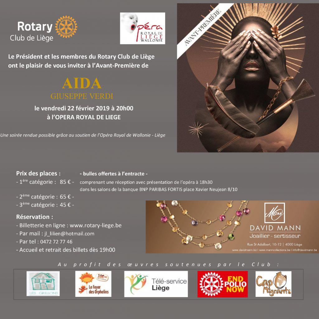 invitation aïda opéra royal wallonie rotary liège