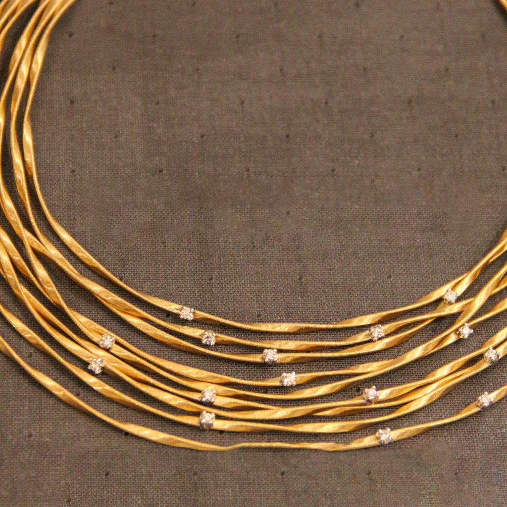 collier or jaune marco bicego collection marrakech bijouterie david mann