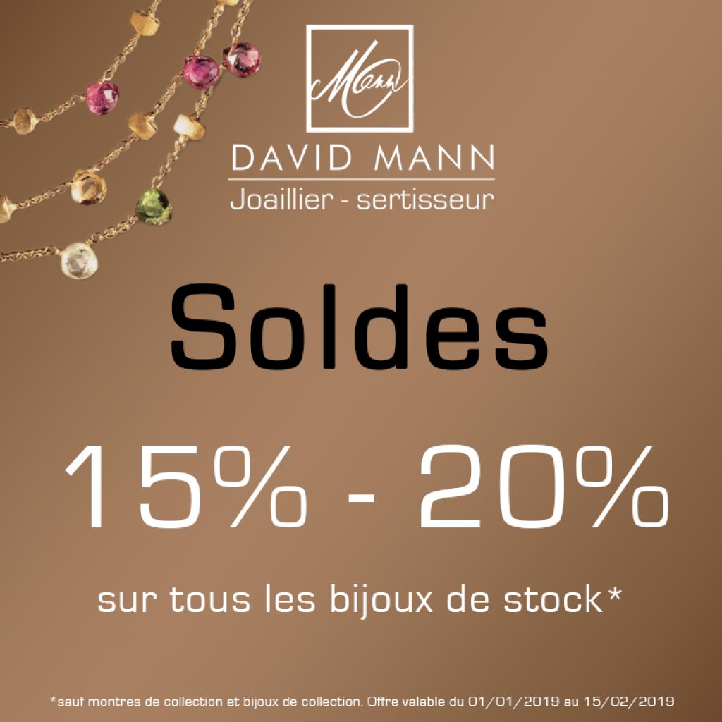 soldes hiver janvier 2019 bijoux or diamant david mann bijouterie