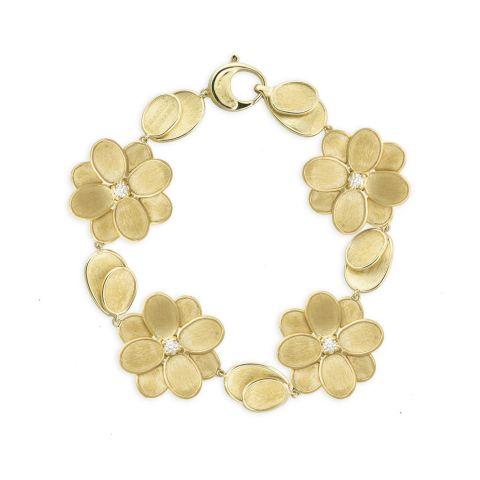 Bracelet Marco Bicego Lunaria Petali en or jaune 4 fleurs avec pétales