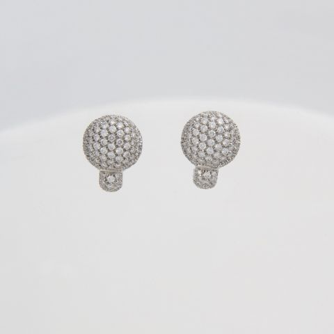 boucles d'oreilles hulchi belluni or blanc diamants