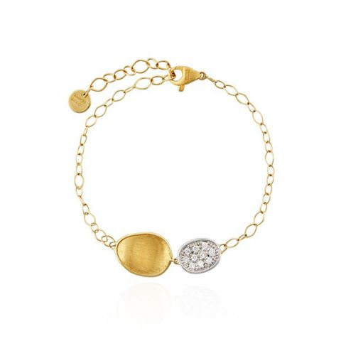 Bracelet Marco Bicego Lunaria or jaune, or blanc et diamants