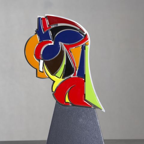 Sculpture de David Mann émail coloré