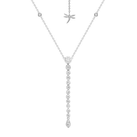 Collier cravate Casato Boutique en or blanc et diamants disponible à la bijouterie à Liège