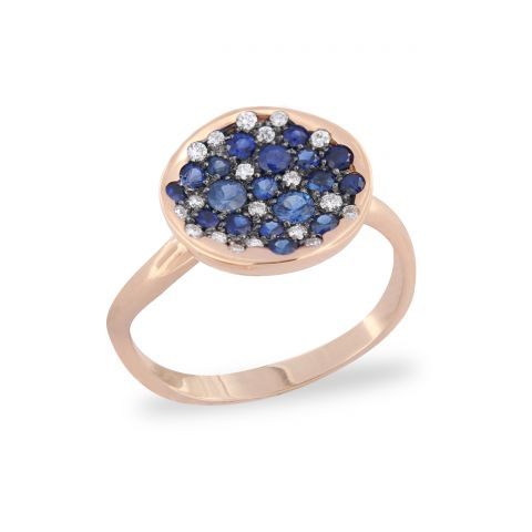 Bague Brusi Spring or rose, saphirs et diamants