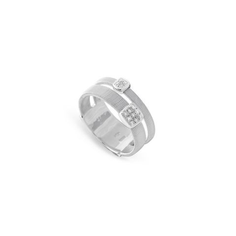 Bague Marco Bicego Masaï 2 rangs et pavés de diamants