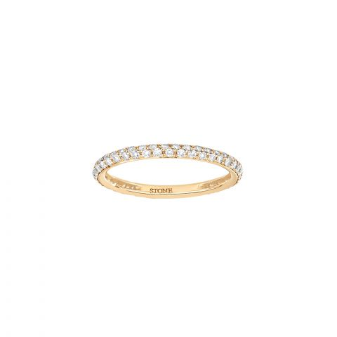 Bague Stone Paris Little Bliss or jaune et diamants