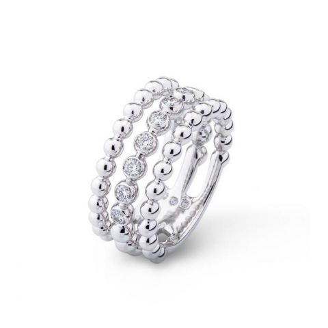 triple bague casato or blanc diamants
