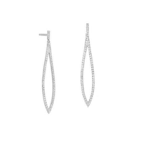 Pendants d'oreilles Facet sertis de diamants