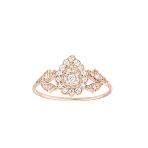 Bague Stone Paris Favorite en or rose et diamants