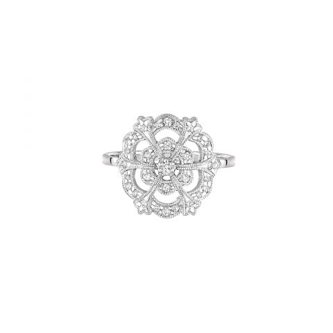 Bague Stone Paris Lace en or blanc et diamants