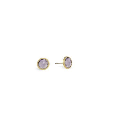 Boucles d'oreilles Marco Bicego Jaipur or jaune guilloché et améthystes
