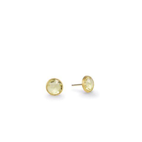 Boucles d'oreilles Marco Bicego Jaipur or jaune guilloché et citrines claires