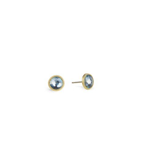 Boucles d'oreilles Marco Bicego Jaipur or jaune guilloché et topazes