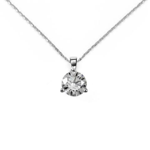 Pendentif diamant et or blanc