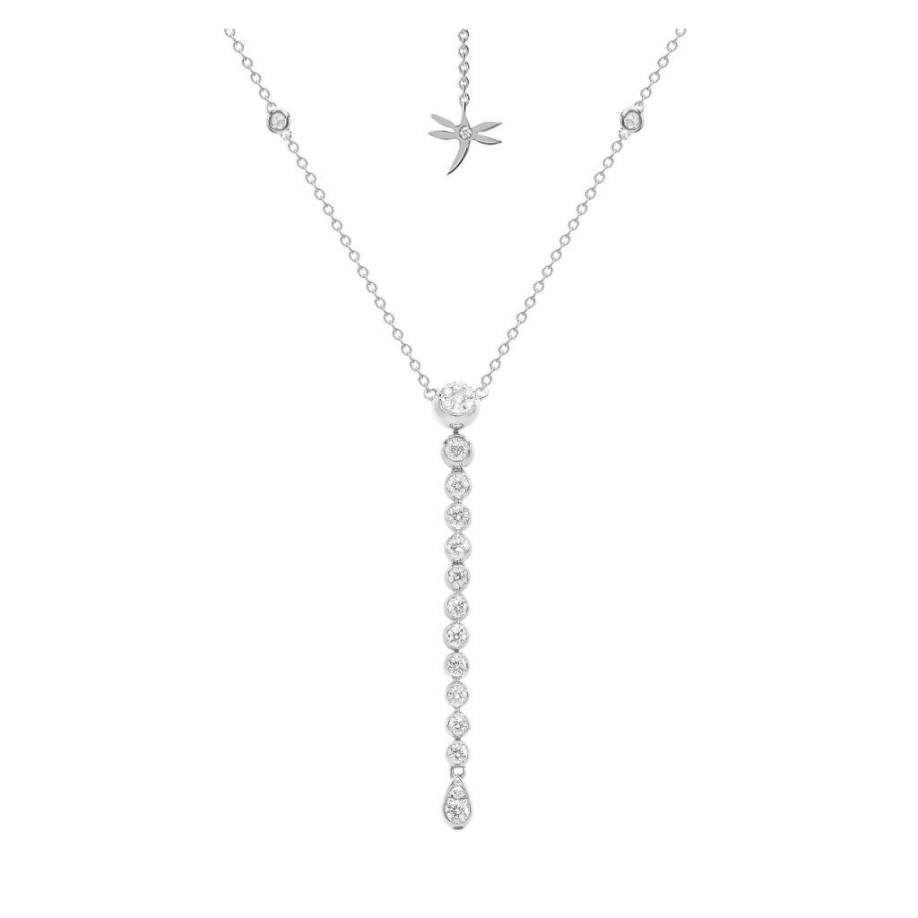 Collier cravate Casato Boutique en or blanc et diamants disponible à la bijouterie à Liège