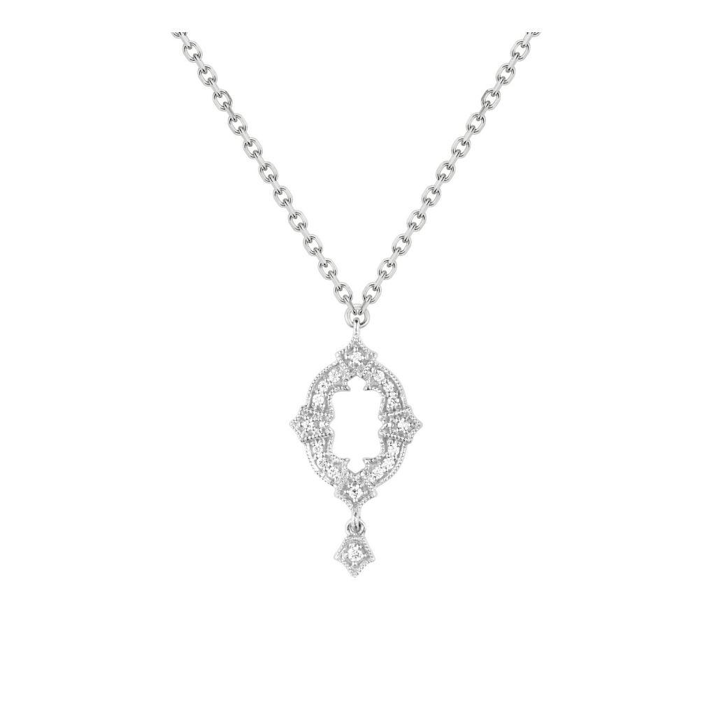 Collier Stone Paris Ava or blanc et diamants