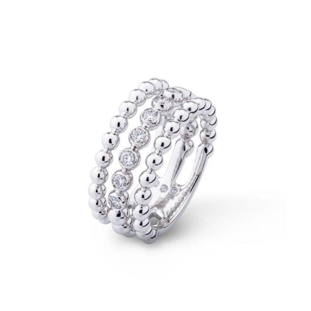 triple bague casato or blanc diamants