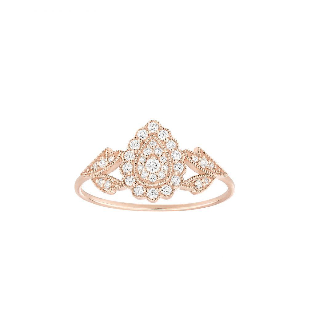 Bague Stone Paris Favorite en or rose et diamants