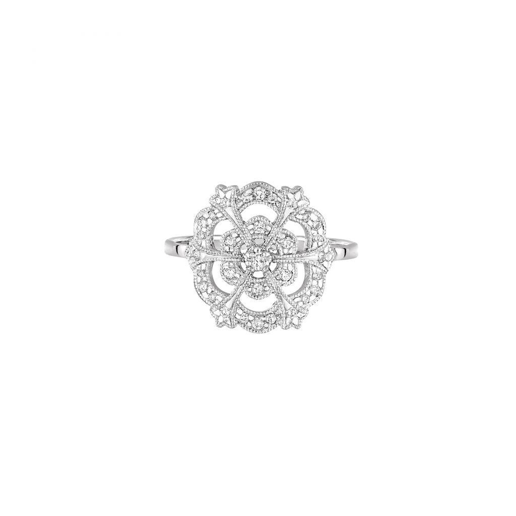 Bague Stone Paris Lace en or blanc et diamants