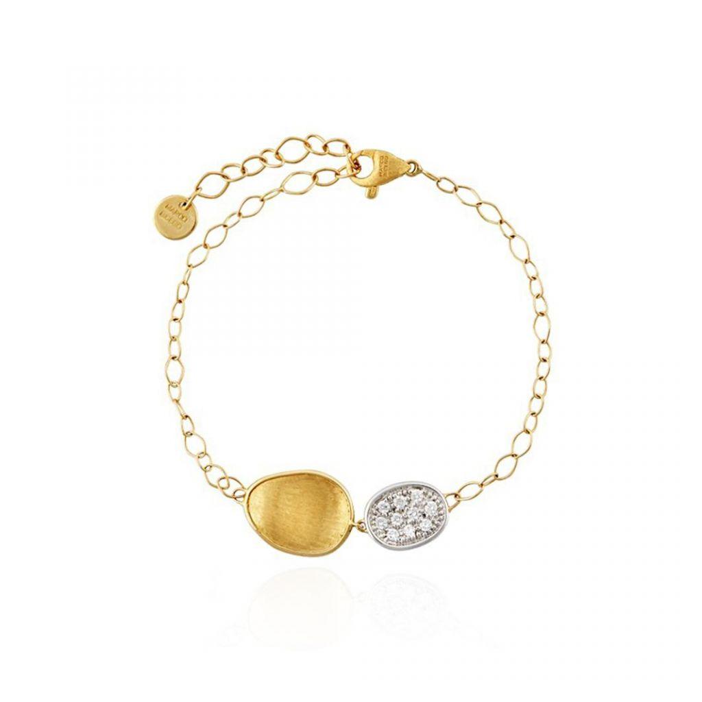 bracelet marco bicego lunaria or jaune diamants