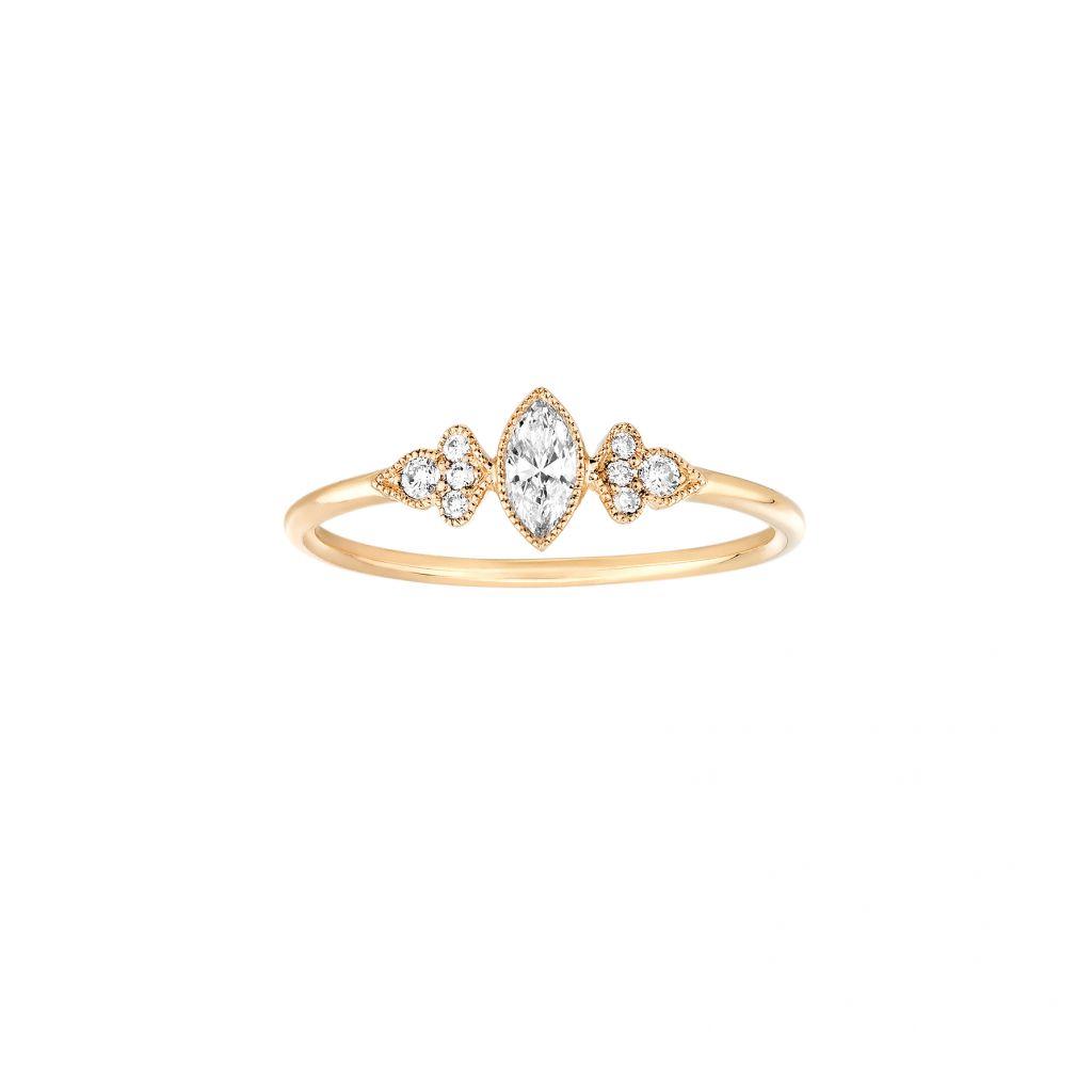 Bague Stone Paris Marie-Antoinette en or jaune et diamants