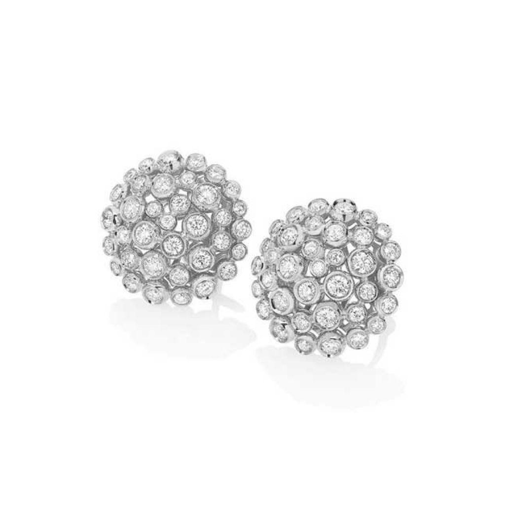 boucles d'oreilles casato serties diamants or blanc