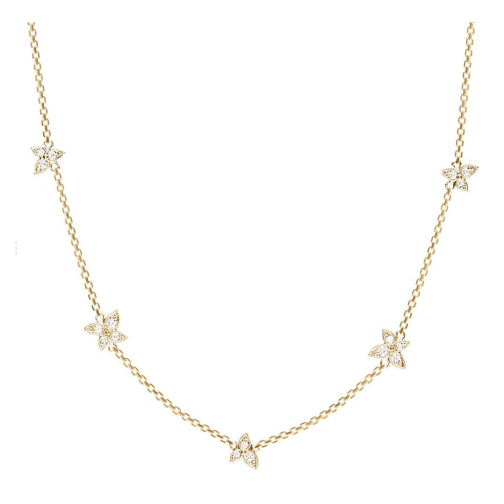 Collier Stone Paris lovely Whisper en or jaune et diamants